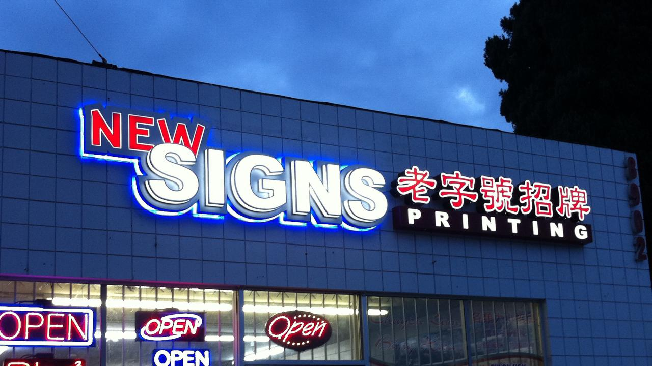 image about Printable Letters for Signs titled Contemporary Indicators Printing - LED CHANNEL LETTER Signs or symptoms